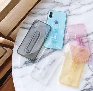 Iphone XS Max Case with Holder - clear case