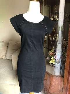 Washed-denim dress zara