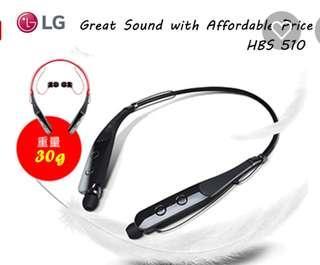 🚚 LG HBS-510 環頸無線藍牙耳機