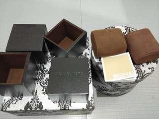 Authentic Michael Kors Watch Boxes w/ manual