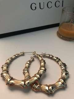 Bamboo look hoops