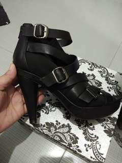 STACCATO Genuine Leather Ankle Booties Heels
