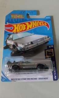 Hot Wheels Back to the Future Hover Mode Delorean Chrome Edition