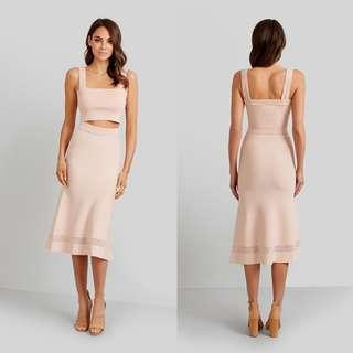 New!Kookai Armand Skirt in Blush, Size 2, RRP$180