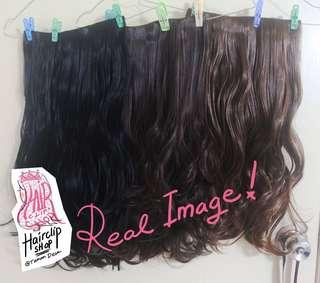 Hairclip / hair extensions halo murah aja, ada warna 🧡🖤