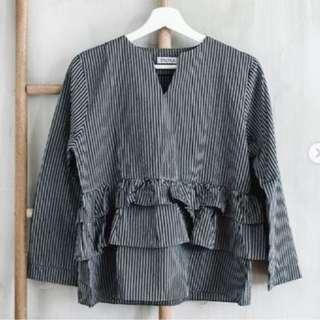 RALYKA grey top blouse abu