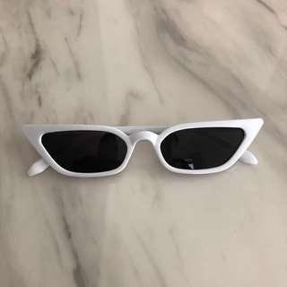 White Frame Cat Eye Sunglasses