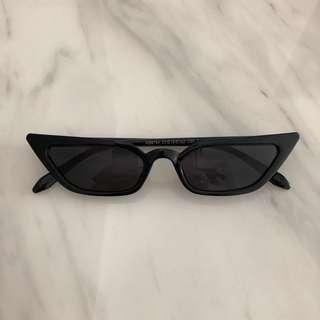 Black Frame Black Lenses Full Black Cat Eye Sunglasses