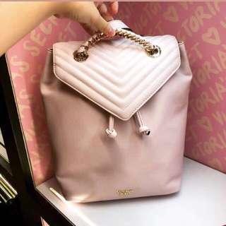 NEW - Victoria's Secret Pink Pebbled V-Quilt Angel Backpack