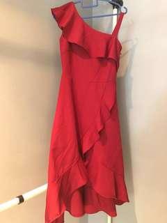 🚚 *Brand New* Red Off-Shoulder Dress