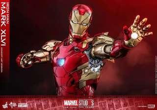 🚚 Hot Toys Iron Man Mark XLVI (Concept Art Version) MMS489D25