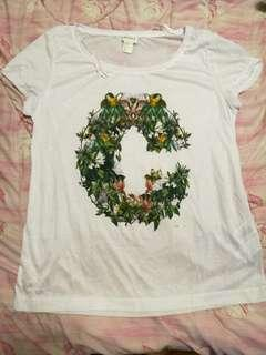H&m conscious collection white t shirt