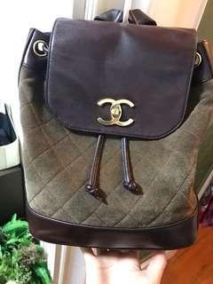 100%real Chanel vintage backpack 背囊