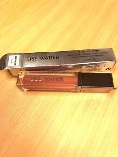 Lise Watier haute couleur high coverage lip lacquer nude with built in mirror application light Canada brand