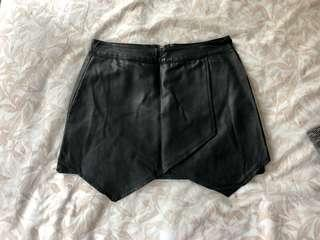 Black leather skirt XS
