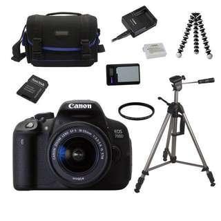 Canon 700D, 64GB Sandisk Micro SD, Steinzerser Tripod & Bag