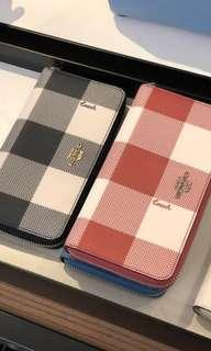 165 LIMITED STOCKS ONLY! Coach Plaid Accordion Zip Over Wallet ☆AUTHENTIC☆