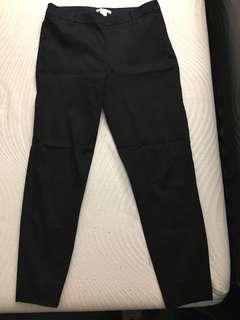 Black ankle length dress pants