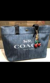 225 LIMITED STOCKS ONLY! Coach Fashion Denim Canvas Tote Bag ☆AUTHENTIC☆