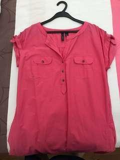 Mango Casual Pink Shirt Dress (#dressforsuccess30)