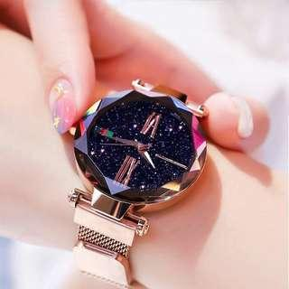 🚚 INSTOCK Starry Star Sky Designed Watch - Black/Rose Gold/ Blue (1pc available per design only)