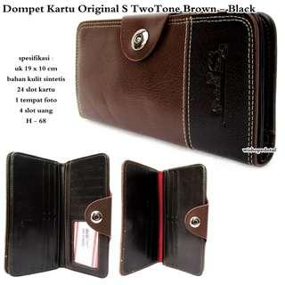 Bestseller dompet kartu original s two brown-black