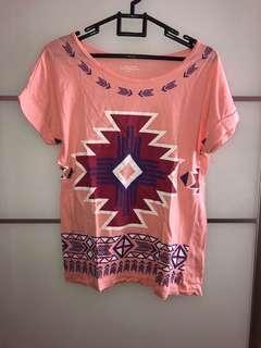 Kaos GIORDANO tshirt pink