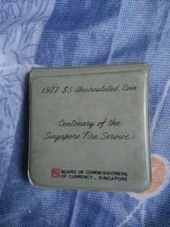 🚚 1988 $5 uncirculated coin (centenary of the fire service)