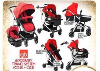 🚚 Goodbaby travel system stroller (bassinet & car seat)