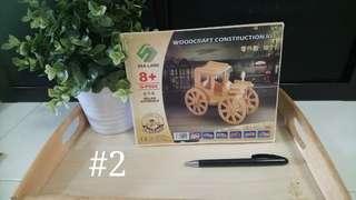 [FreeMail] WoodCraft Construction Kit (Rolling Automobile) Set #2