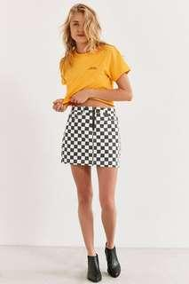 URBAN OUTFITTERS CHECKERED MINI SKIRT ZIP UP
