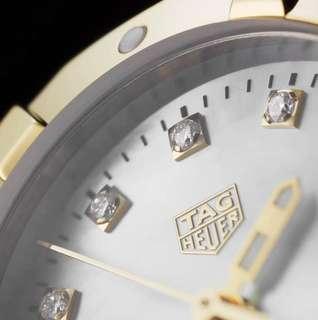 🚚 Tag Heuer Aquaracer WBD1422.BB0321 300 m - ∅27 mm, VS Diamond 18K Gold Bezel Ladies Watch