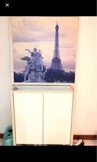 Paris picture frame and shoe cabinet
