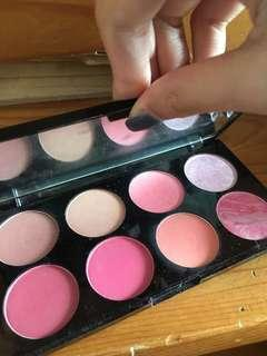Makeup revolution 8color blush