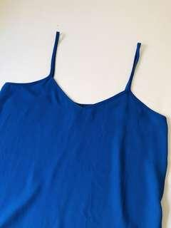 Topshop Blue Sheer Top