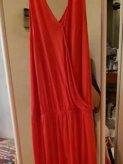 Cotton On Coral Maxi Crossover Dress.