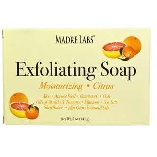 [現貨] Madre Labs, Exfoliating Soap, Citrus 袪角質皂(柑橘味)