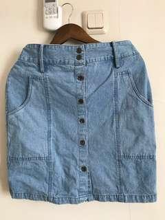REPRICE Rok Jeans Selutut #dibuangsayang