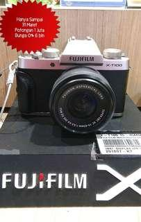 FUJIFILM X-T100 15-45mm Cicil Bunga 0% Harga Discount