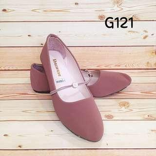 flathoes murah maroon cokelat brown new