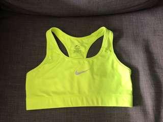 Nike Pro Sports Bra/Crop Neon