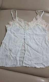 Editors market lace trim camisole