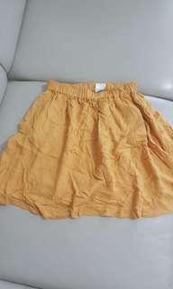 Urban outfitters mustard skirt