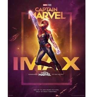 Captain Marvel Marvel隊長 IMAX版海報