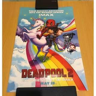 Marvel Deadpool 海報 poster IMAX版