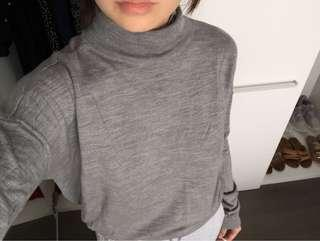 Grey oversized turtle neck