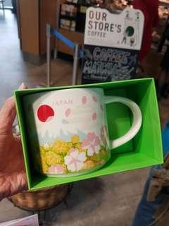 日本Starbucks星巴克You Are Here富士山系列春季櫻花飛舞限定版星限量版大杯Japan spring coffee mug limited