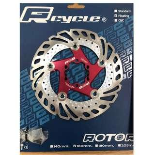 🚚 PRGcycle PBR-19 Floating Rotor 160mm Red Color with alloy spider