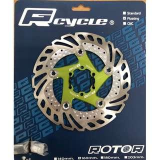 PRGcycle PBR-19 Floating Rotor 160mm Green Color with alloy spider