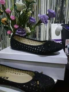 Flat Shoes glittered